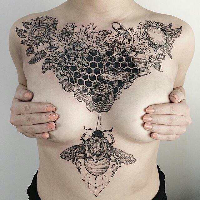 sternum tattoo (2)