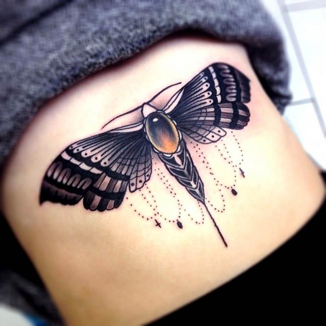 sternum tattoo (22)