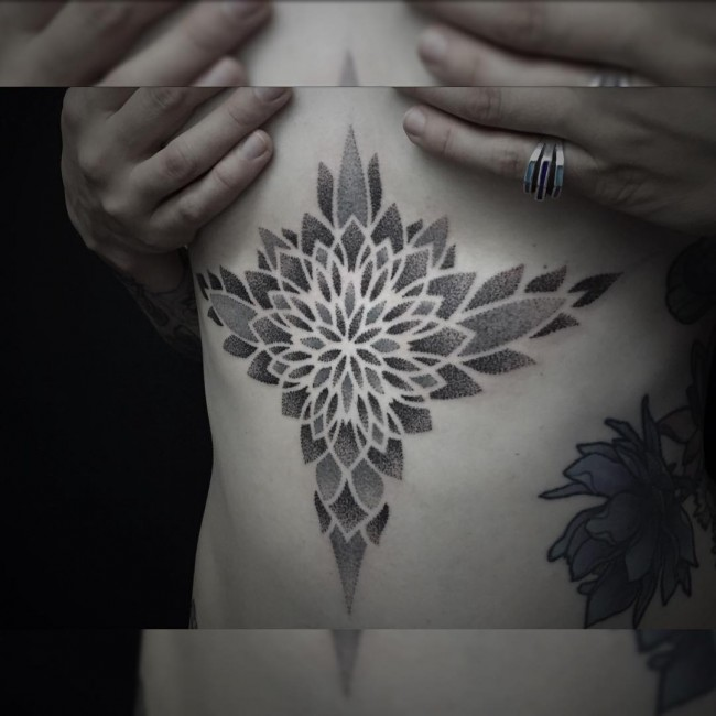 sternum tattoo (33)