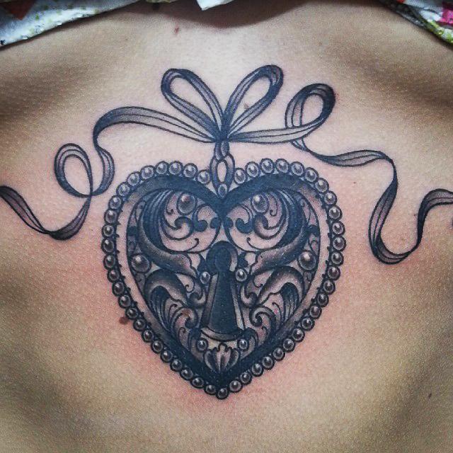 sternum tattoo (40)