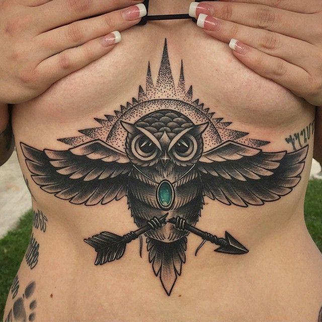 sternum tattoo (43)