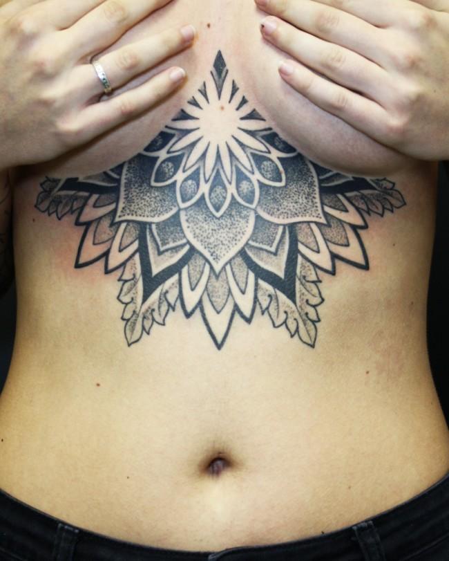 sternum tattoo (5)