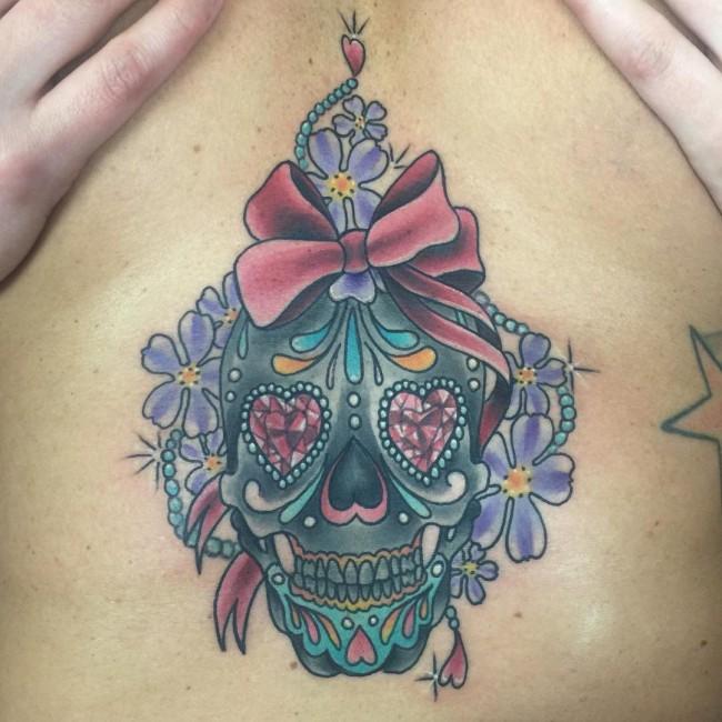 sternum tattoo (53)