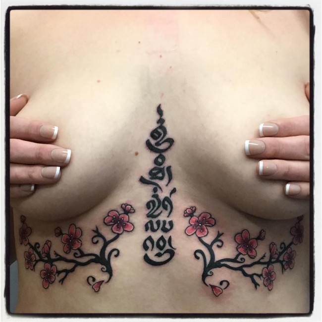 sternum tattoo (64)
