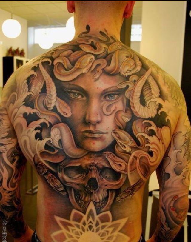 35 bewitching medusa tattoo designs meaning. Black Bedroom Furniture Sets. Home Design Ideas