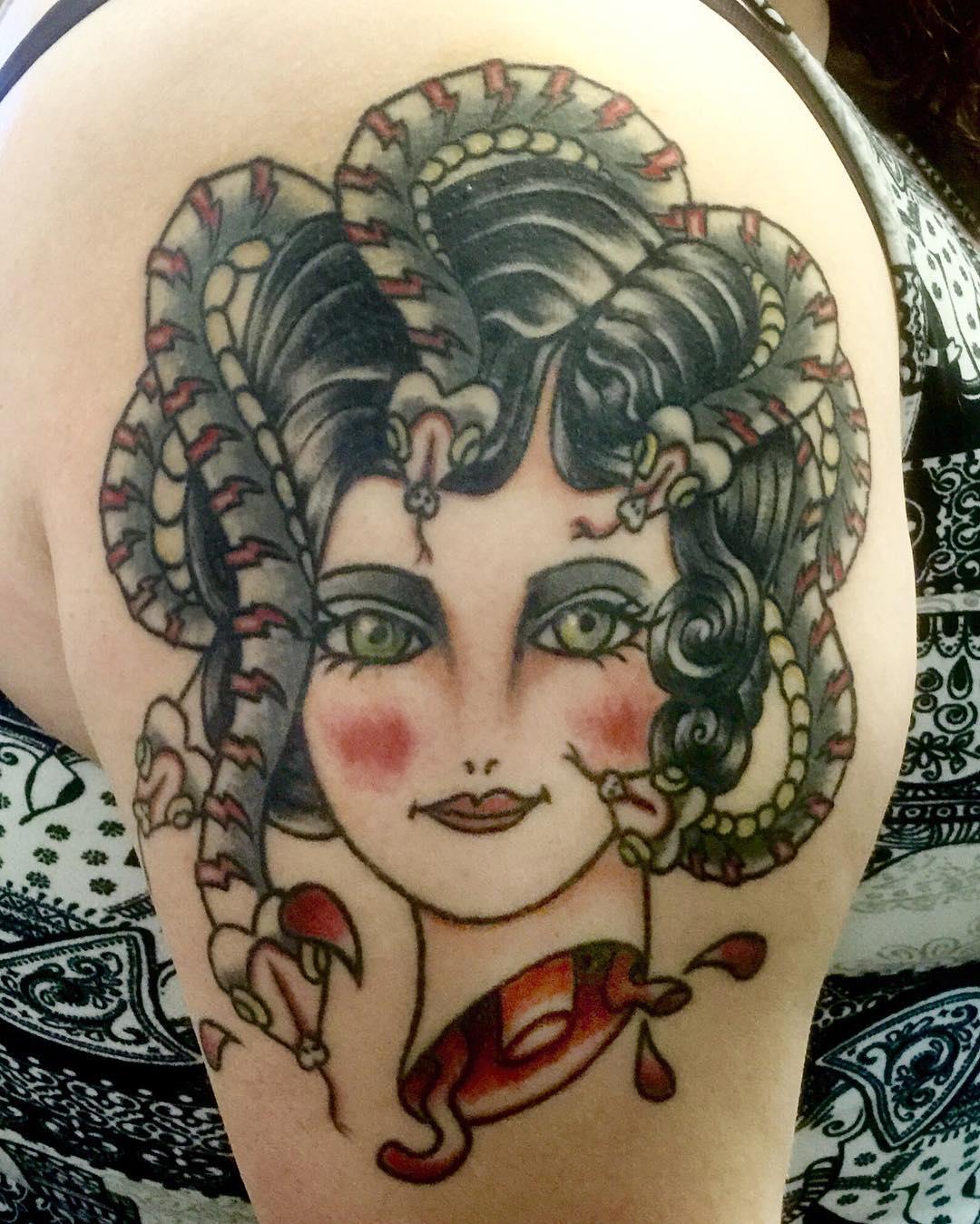 Medusa Illustration Tattoo: 105+ Bewitching Medusa Tattoo Designs & Meaning