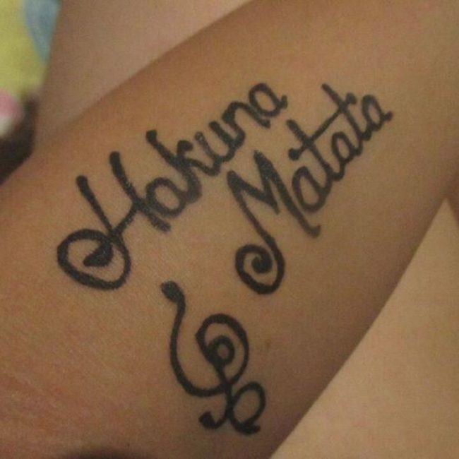 Hakuna Matata symbol tattoo_