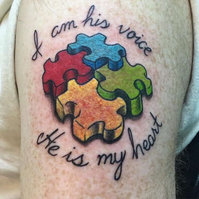 60 wonderful autism tattoo ideas showing awareness and