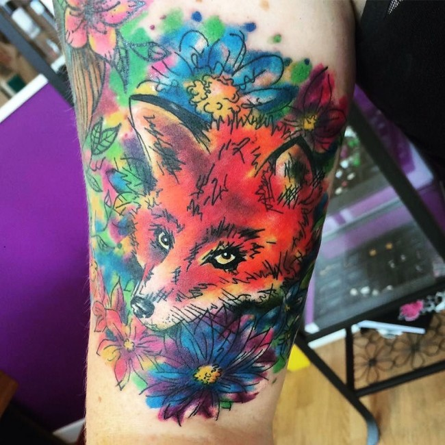 fox tattoo36