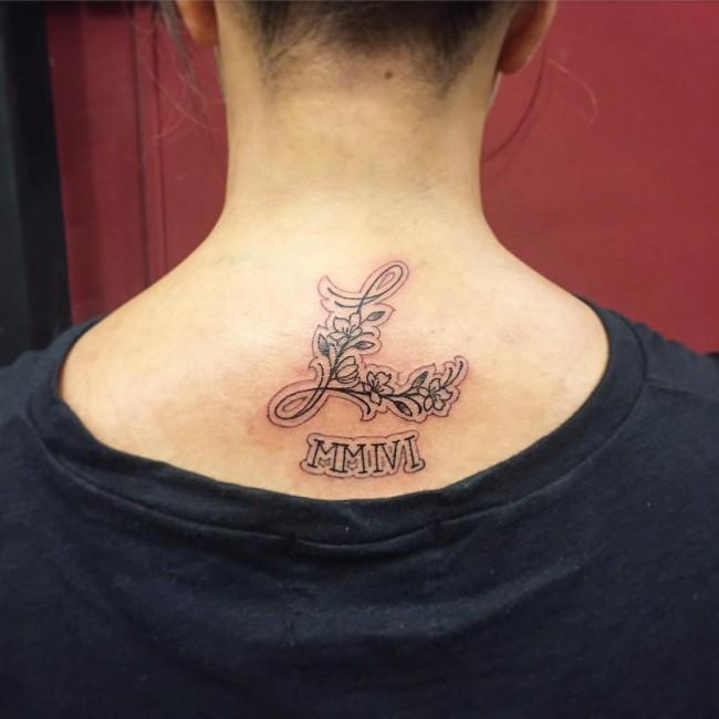 initial tattoo 35