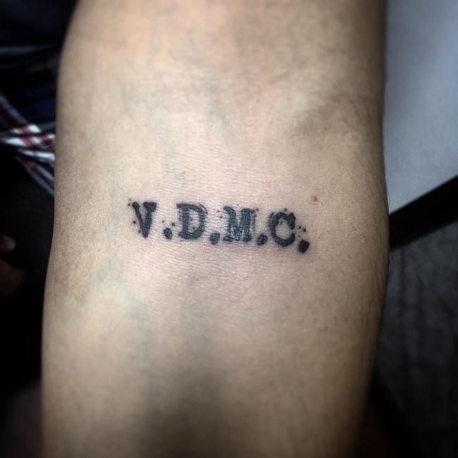 initial tattoo 45