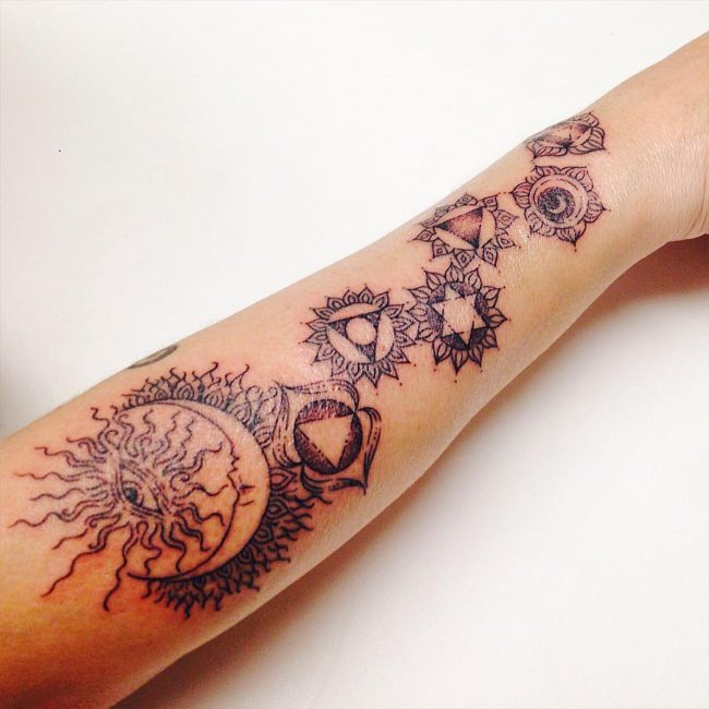 Underarm Tattoos Designs Ideas And Meaning: 55+ Energizing Chakra Tattoo Designs