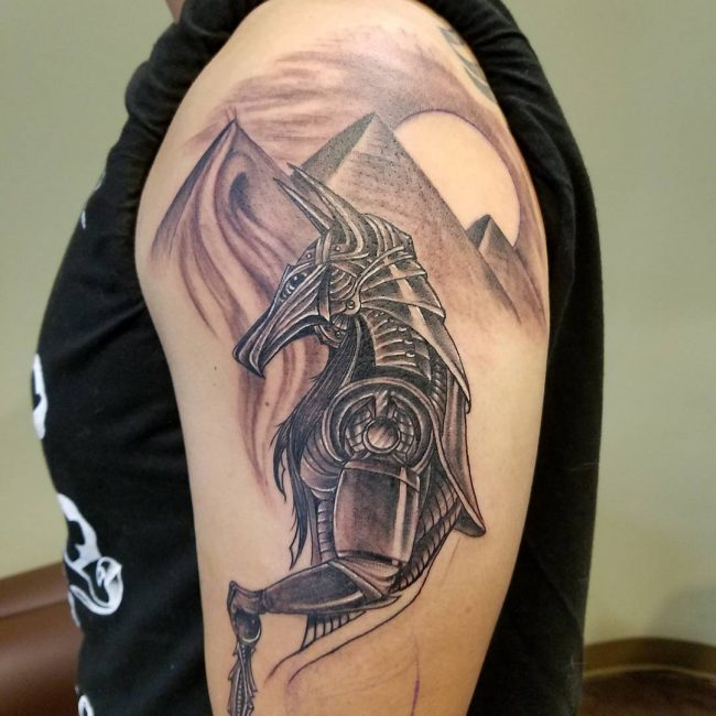 85 incredible anubis tattoo designs an egyptian symbol of protection. Black Bedroom Furniture Sets. Home Design Ideas