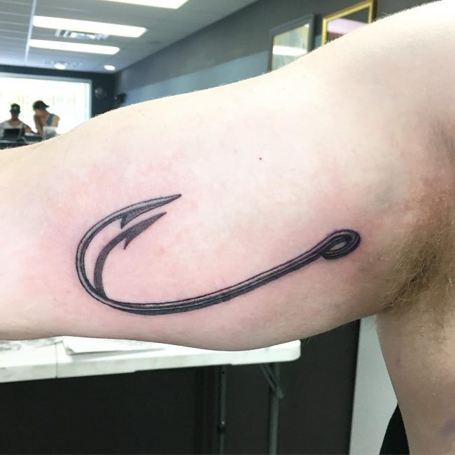 Fish Hook Tattoo_