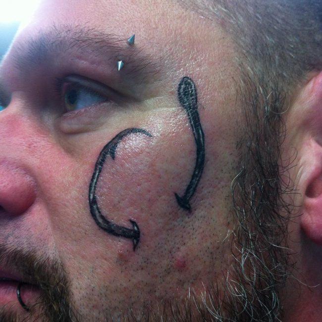 Fish Hook Tattoo_