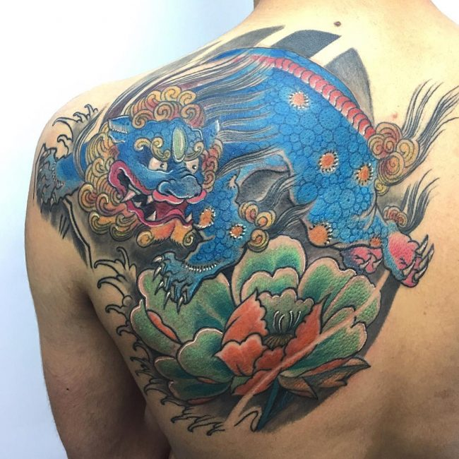Foo Dog Tattoo_