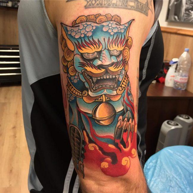 Foo Dog Tattoo_