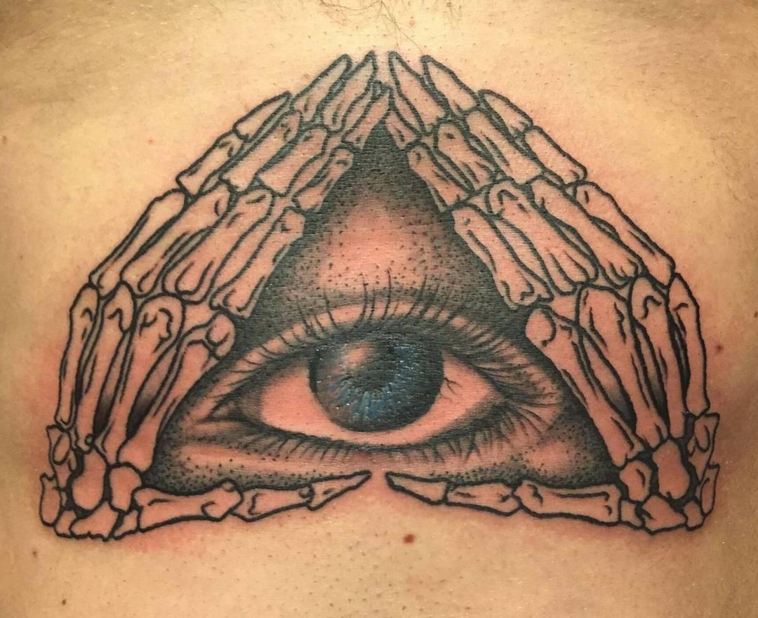 Illuminati Triangle Tattoo 60+ Mysterious Illumin...