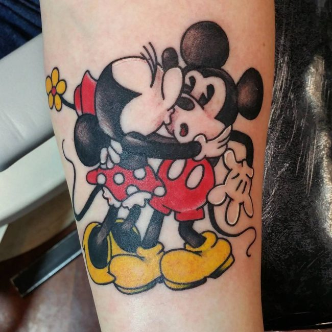 Mickey and Minnie Mouse Tattoos_