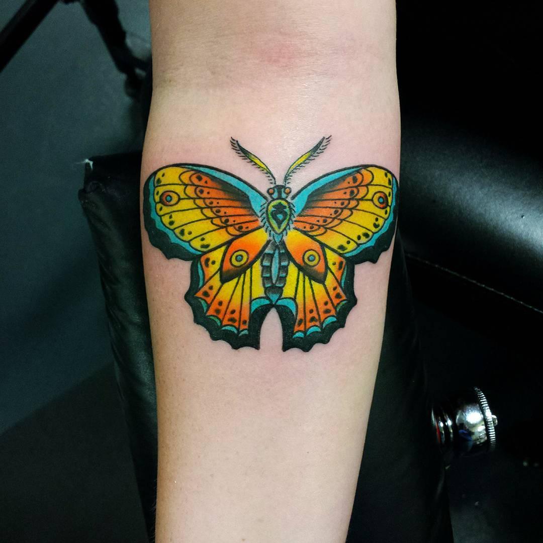 Tatto Design: 85+ Wondrous Moth Tattoo Ideas