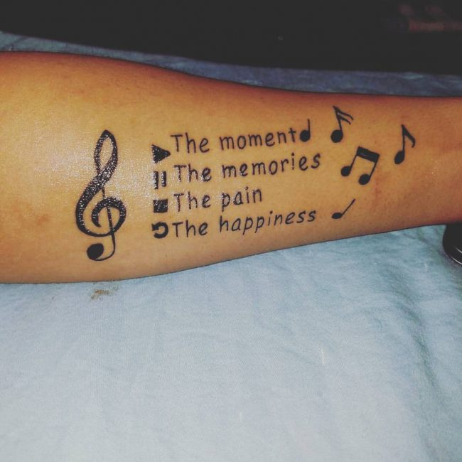 Music Note Tattoo_