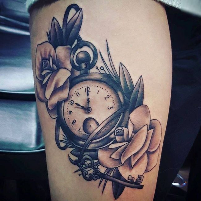 105 timeless pocket watch tattoo ideas a classic and for Pocket watches tattoos
