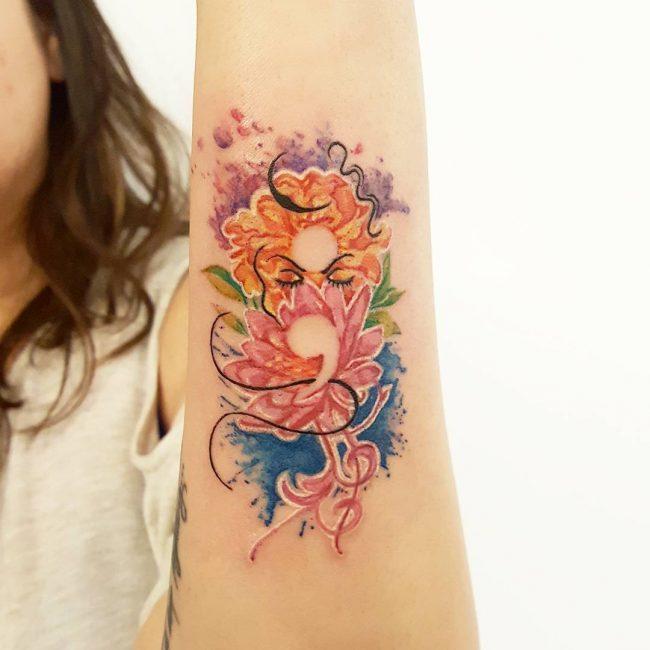 Semicolon Tattoo_