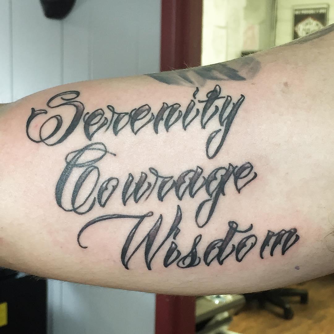 30 Inspiring Serenity Prayer Tattoo Designs Serenity: 28+ [courage Tattoo Designs]