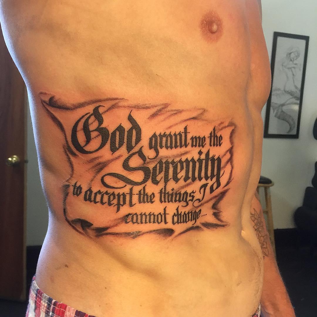 55 Inspiring Serenity Prayer Tattoo Designs-Serenity, Courage & Wisdom