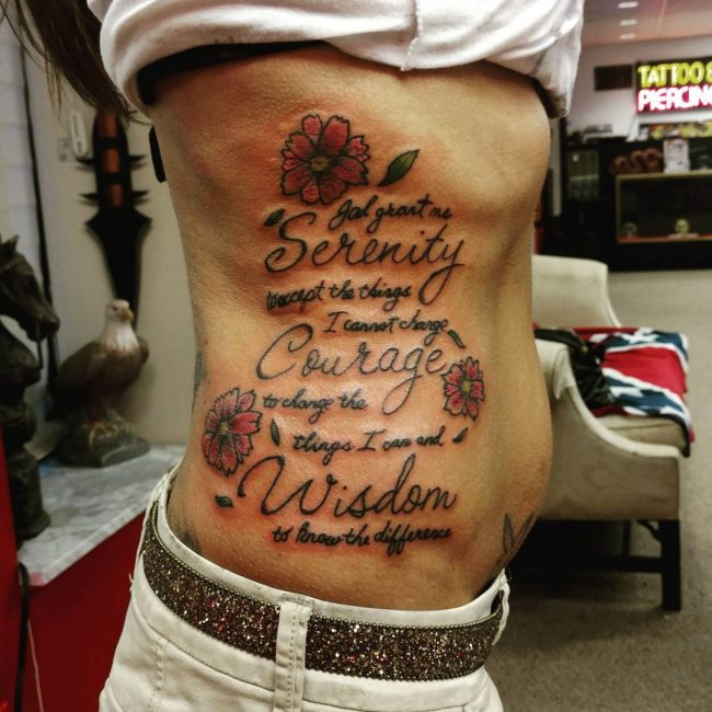 Serenity Prayer Tattoo_