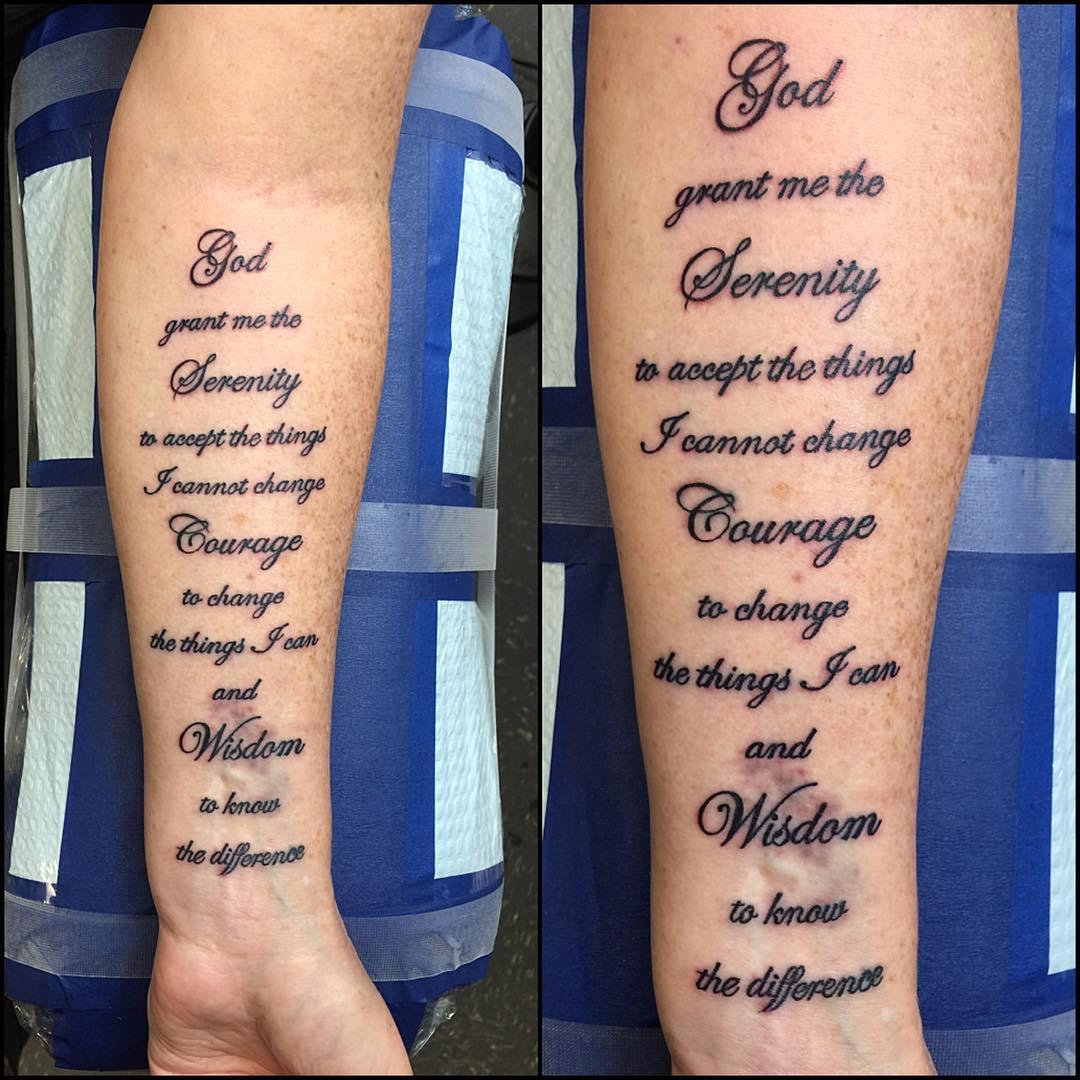 Shoulder Tattoo Quote Ribcage Serenity Prayer: 55 Inspiring Serenity Prayer Tattoo Designs-Serenity