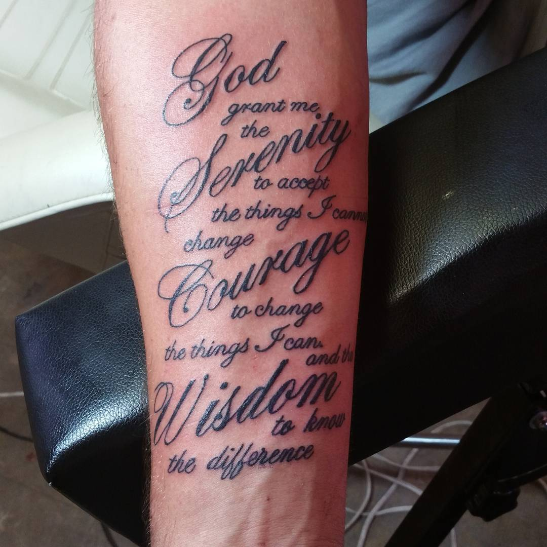 55 Inspiring Serenity Prayer Tattoo Designs-Serenity ...