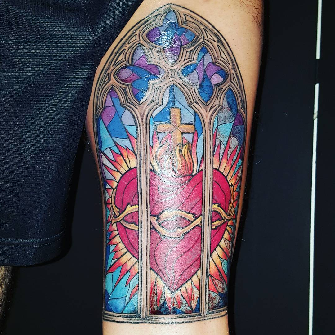 75 Dazzling Stained Glass Tattoo Ideas