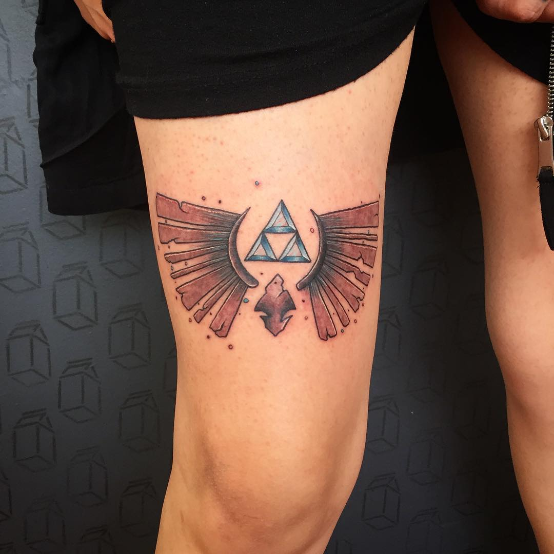 Designs And Tattoo Ideas: 85+ Mighty Triforce Tattoo Designs & Meaning