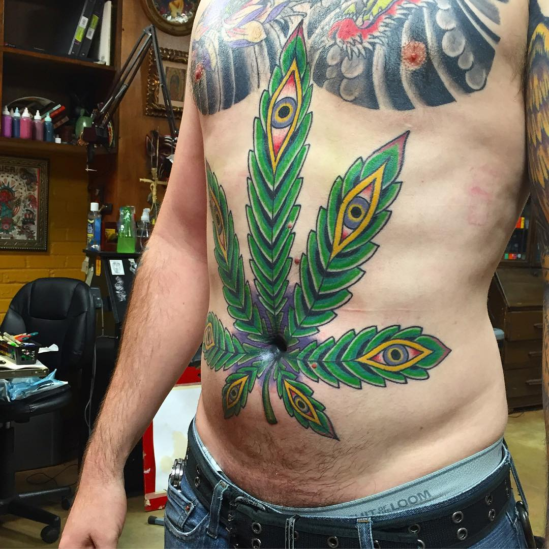 60+ Hot Weed Tattoo Designs – Legalized Ideas in (2018)