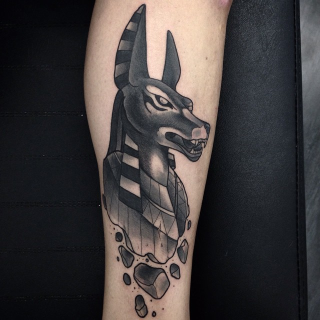 egyptian dog tattoo - photo #11