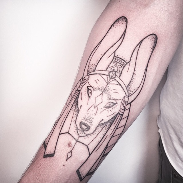 egyptian dog tattoo - photo #25