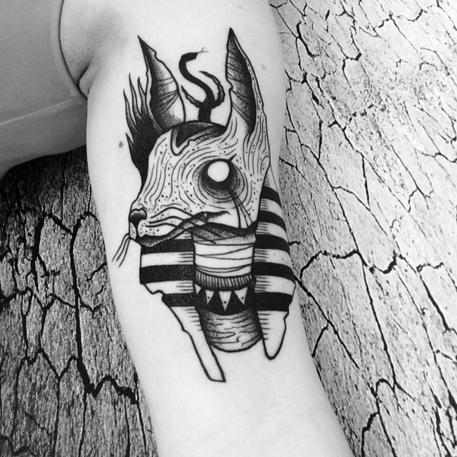 egyptian dog tattoo - photo #7
