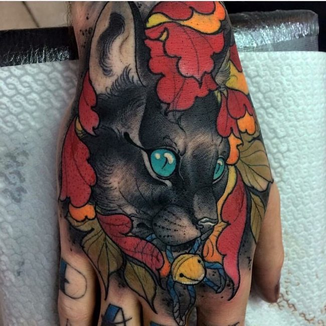 black cat tattoo11
