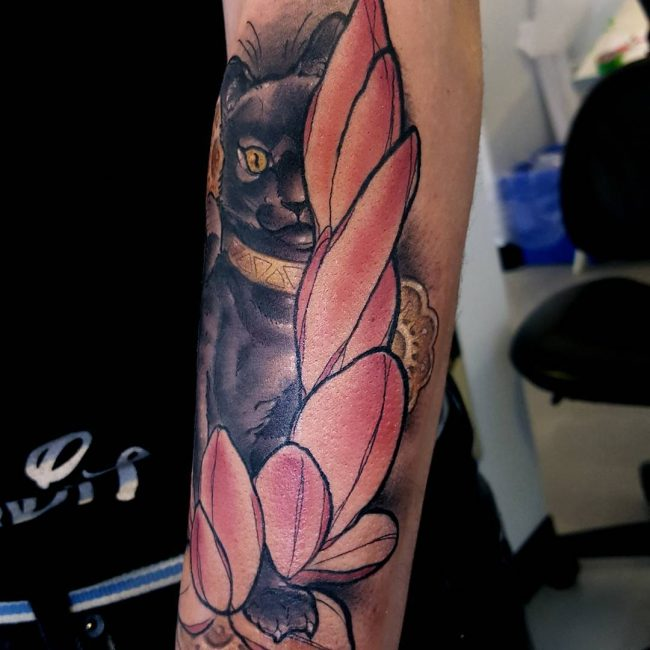 black cat tattoo14