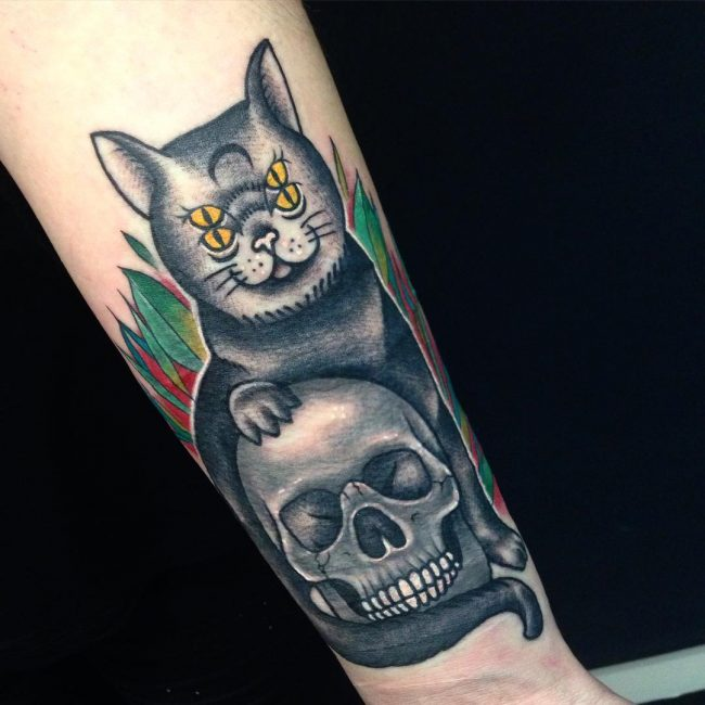 black cat tattoo19