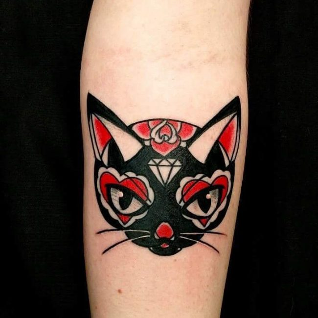 black cat tattoo22