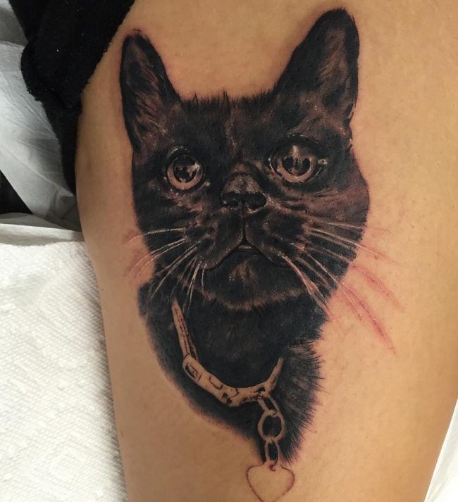 black cat tattoo26