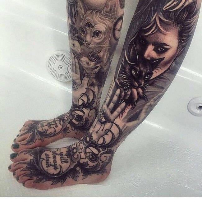 black cat tattoo32