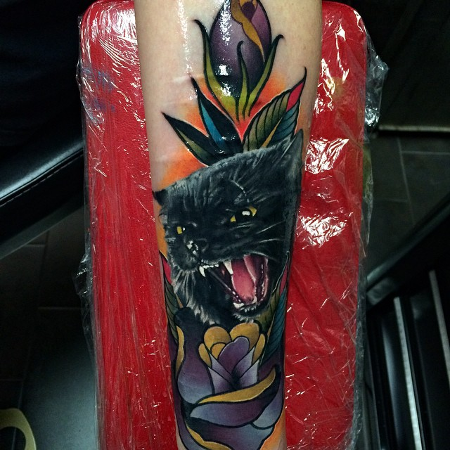 black cat tattoo33