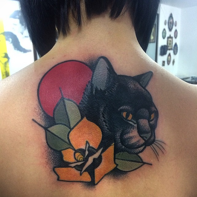 black cat tattoo37