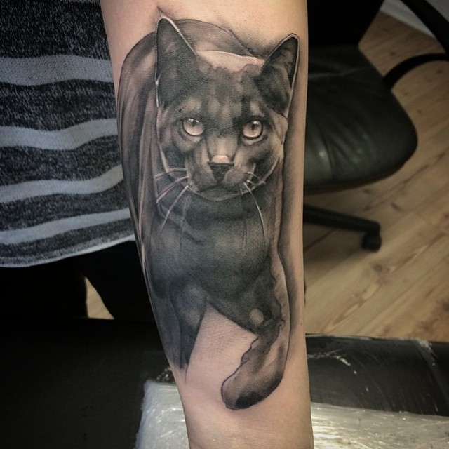 black cat tattoo38