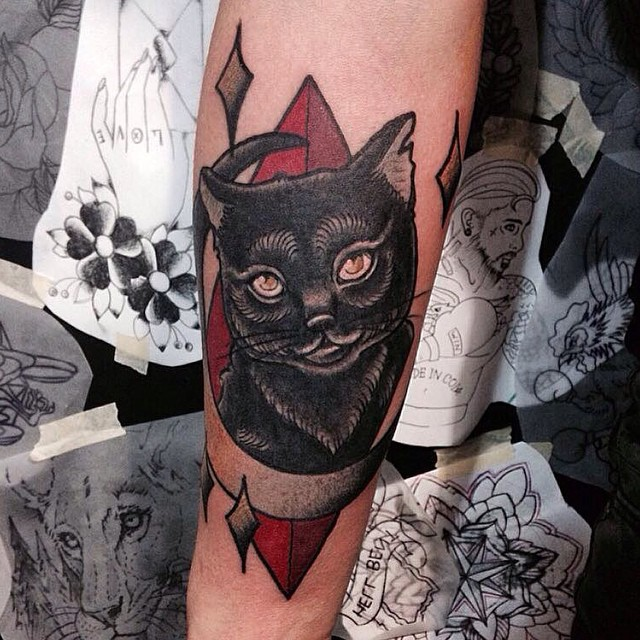 black cat tattoo39