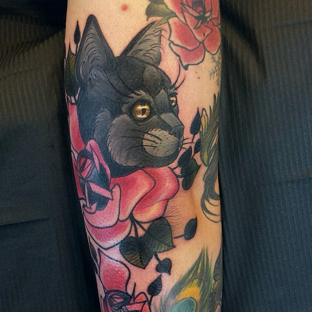 black cat tattoo40
