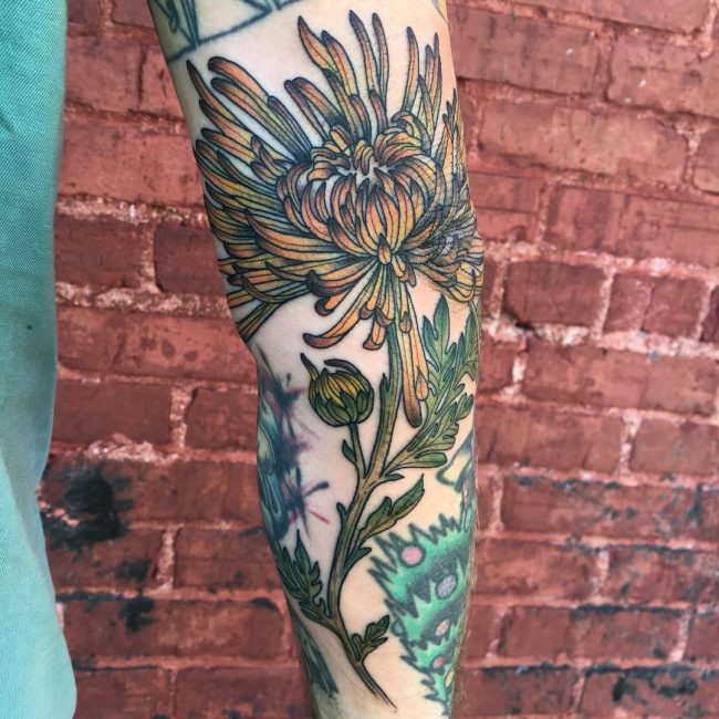 chrysanthemum tattoo1